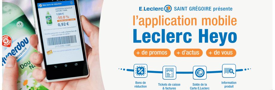 Application Heyo de leclerc - Bons plans et réduction directement en magasin