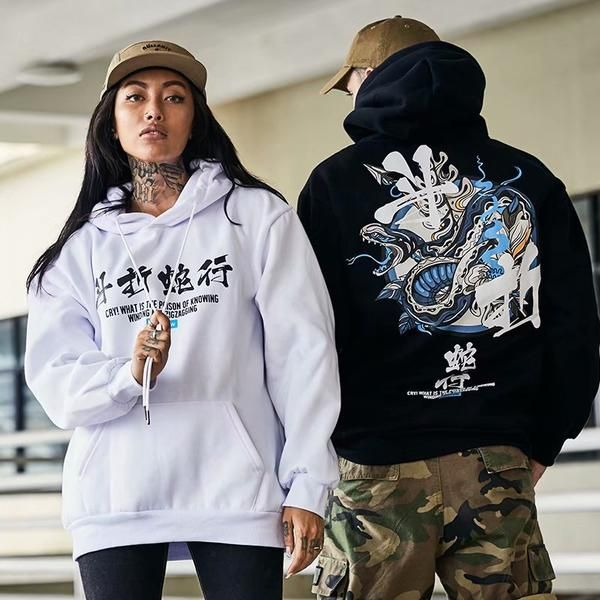 Hoodies style streetwear Japonais