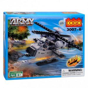 Jeu de construction cogo army action l'helicoptere d'assaut 95-pieces