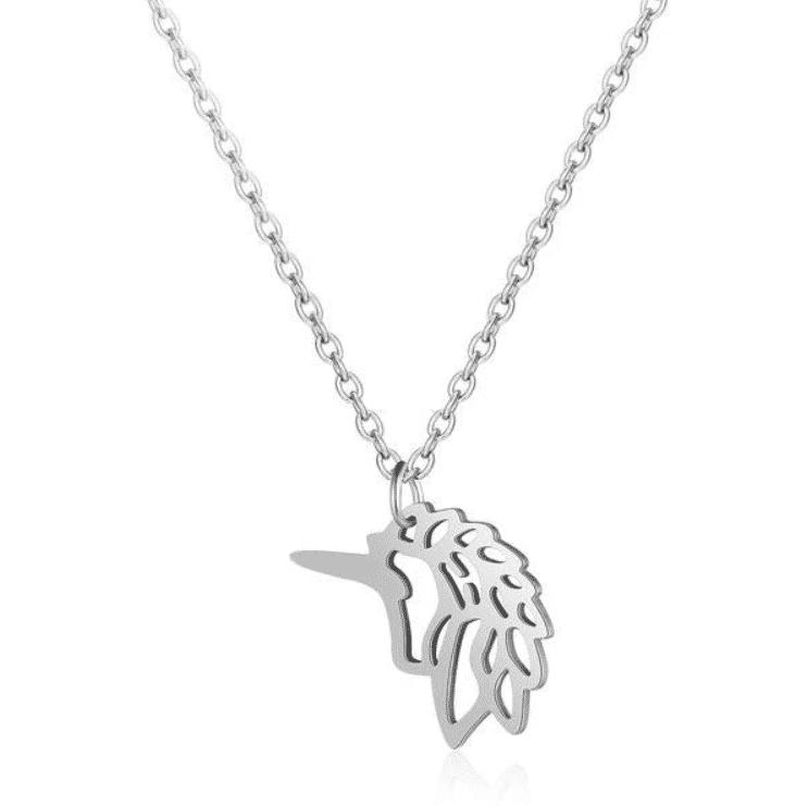 Collier pendentif licorne, chaine argent
